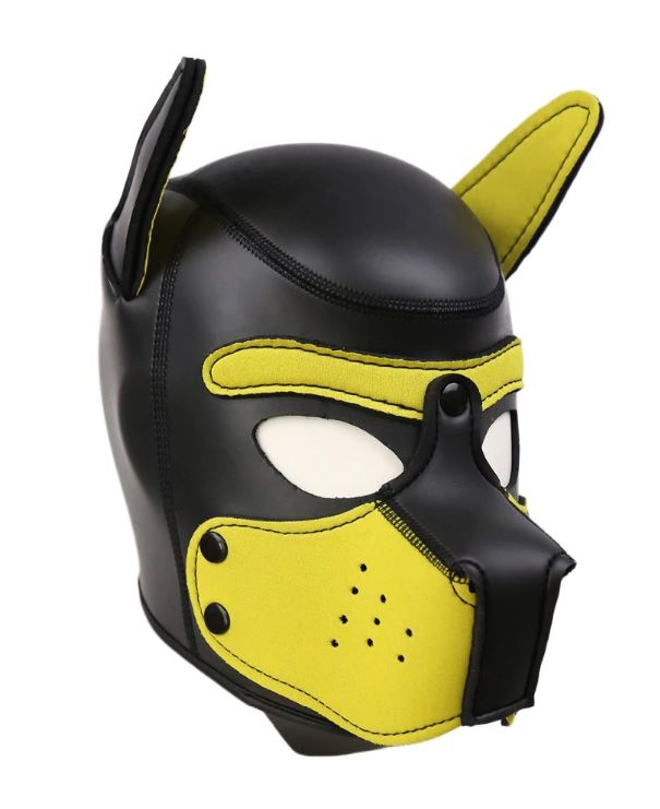 Yellow Puppy Mask