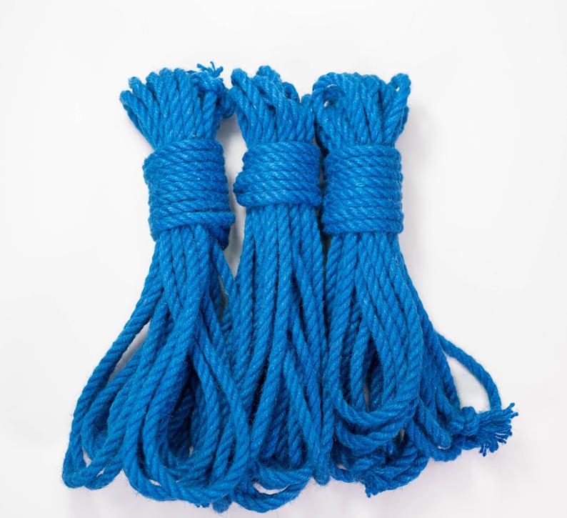 Blue Dyed Jute Rope