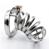 Arc Tip Large Steel Chastity Cage