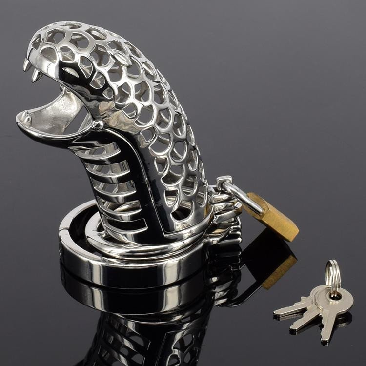 Snake Steel Chastity Cock Cage