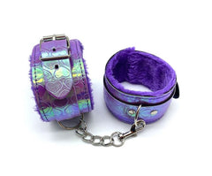 Holographic Purple Heart Wrist Restraints