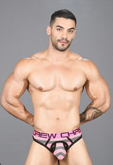 Andrew Christian Pink Striped Air Thong/G-string