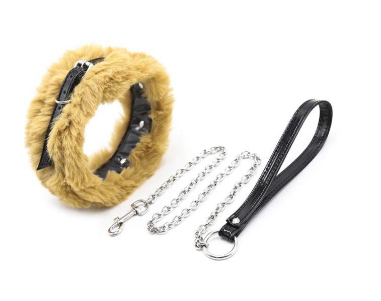Fluffy PVC Collar With Leash