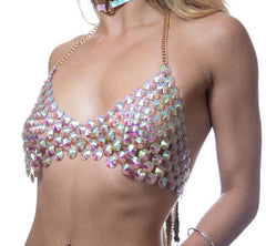 Rainbow Rhinestone Top
