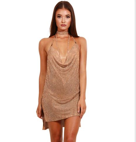Rose Gold Chain Dress