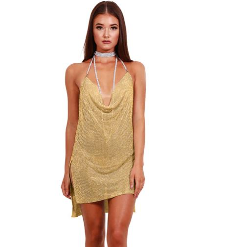 Yellow Gold Chain Dress