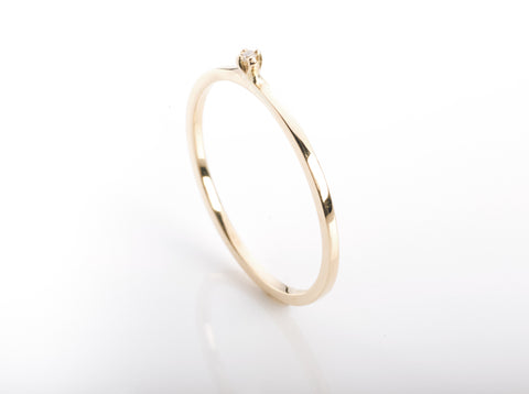 Single spike facet bracelet dainty