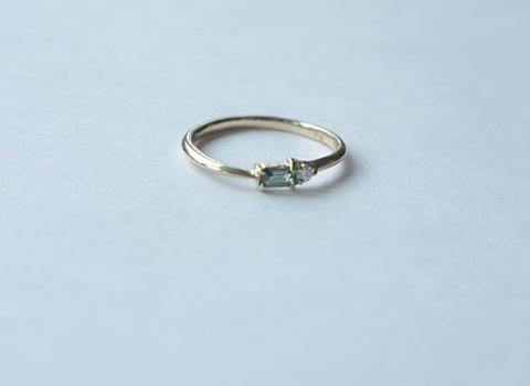Gypsy set diamond ring