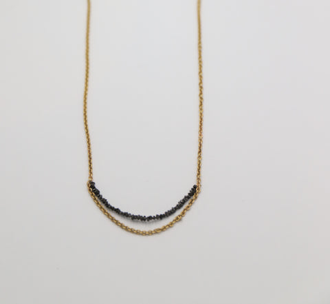 Gold spikes layered necklace