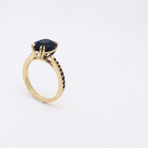 Katie rose jewellery black sapphire black diamond ring