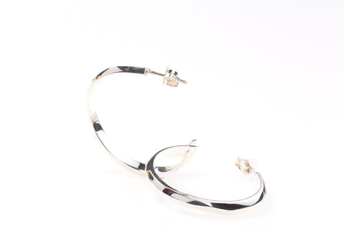 Facet earring hoops