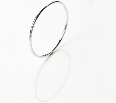 Spikes round bangle, quarter