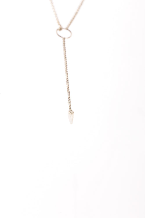 Long drop spike necklace