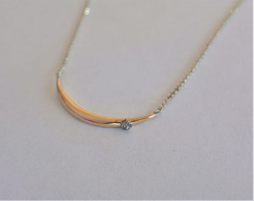 Katie rose jewellery crescent moon diamond necklace
