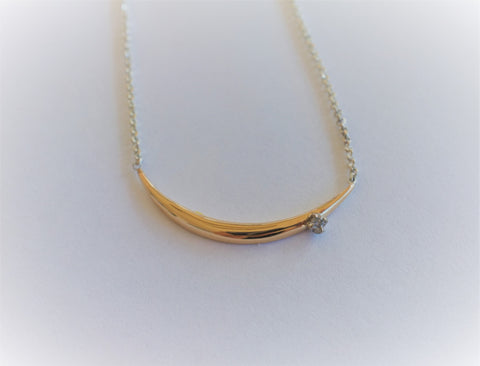 Facet single spike necklace small