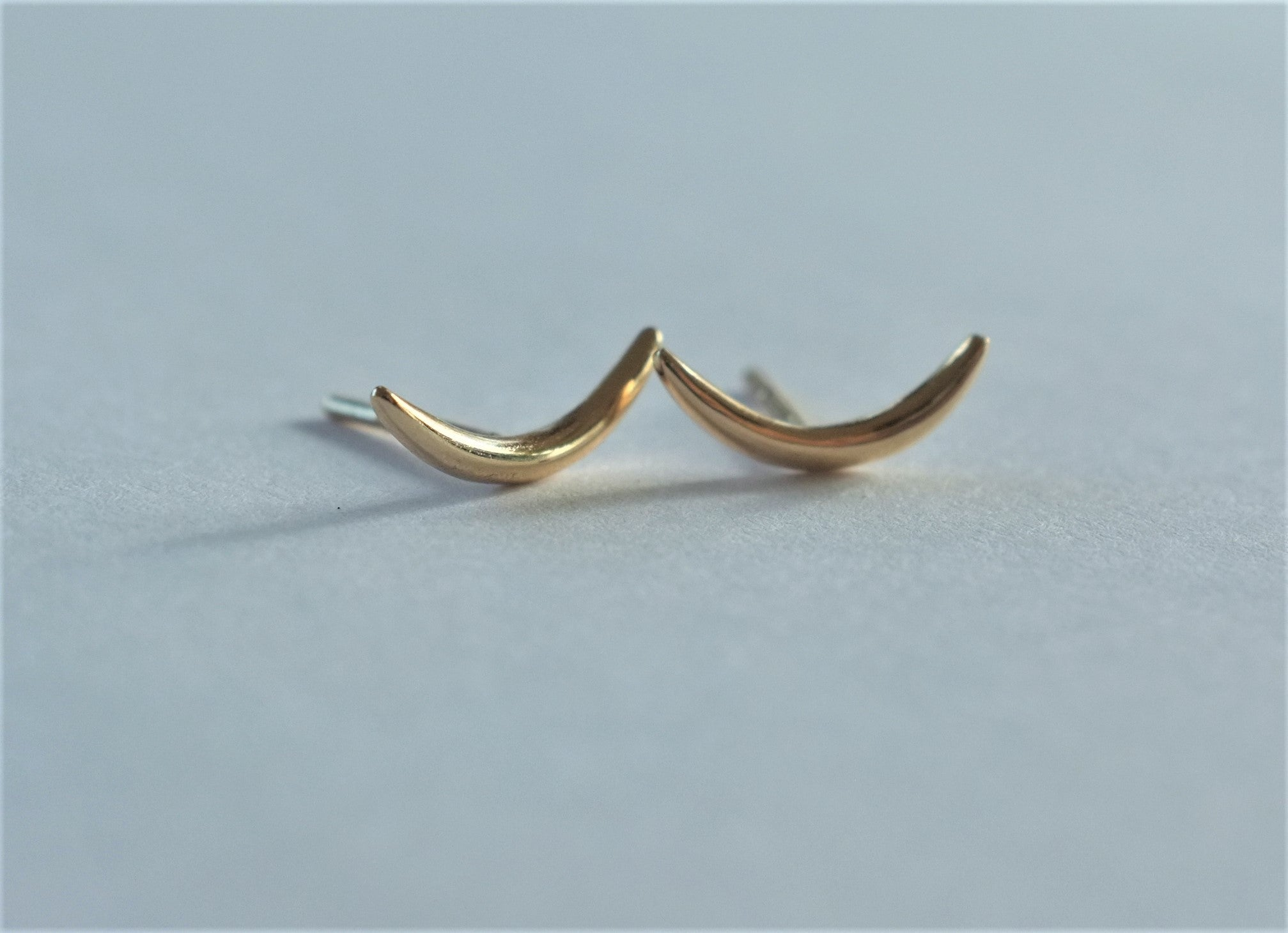 Katie rose jewellery crescent moon studs