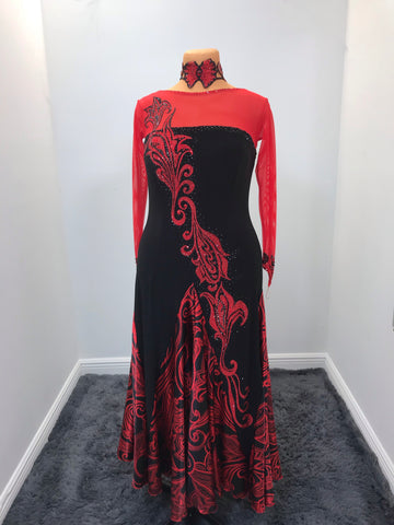 Damask In Red C049SD