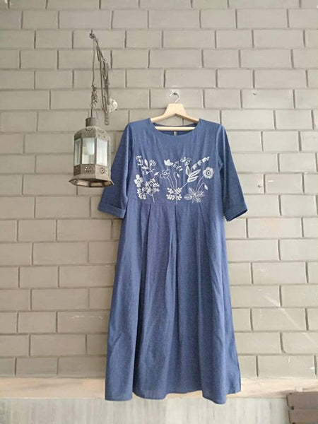 Blue Handloom Dress ROAM 181204