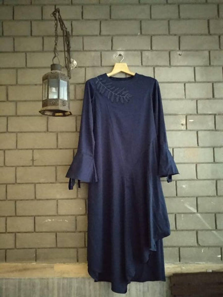 Organic cotton Navy dress