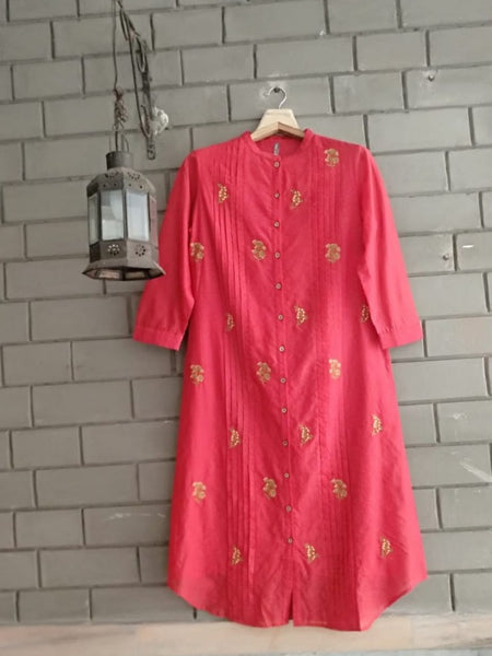 Red Chanderi Tunic