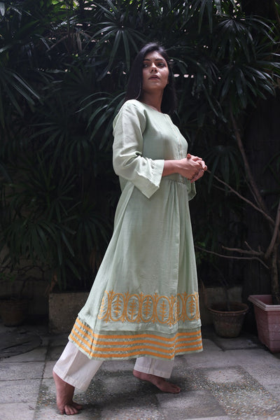 ROAM 192707 Embroidered Chanderi Tunic