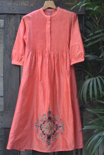 ROAM 200307 Embroidered Chanderi Tunic