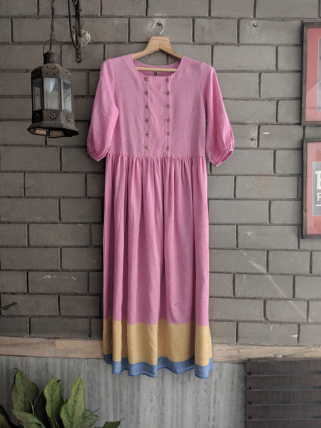 ROAM 190603 Handwoven cotton tunic dress