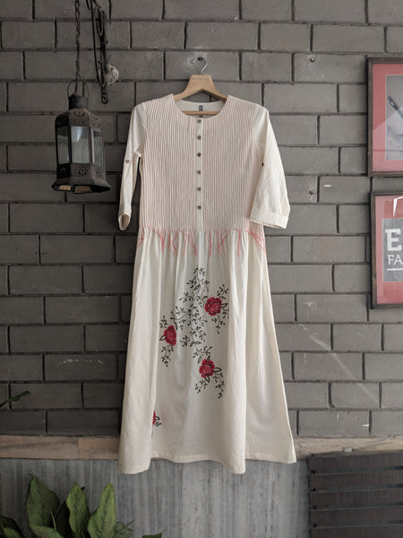 ROAM 190605 Hand woven cotton embroidered tunic