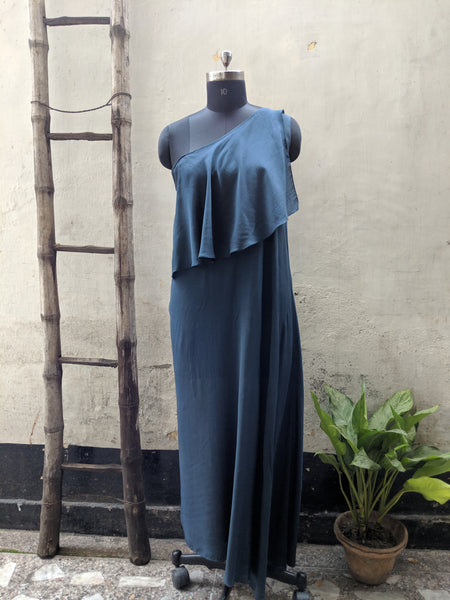 One Shoulder Muslin Dress ROJM D02