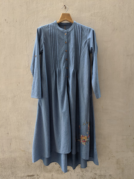 ROAM 192701A Chambray Pleated Tunic