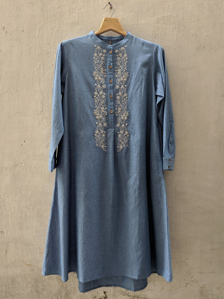ROAM 192602 Chambray Tunic Dress