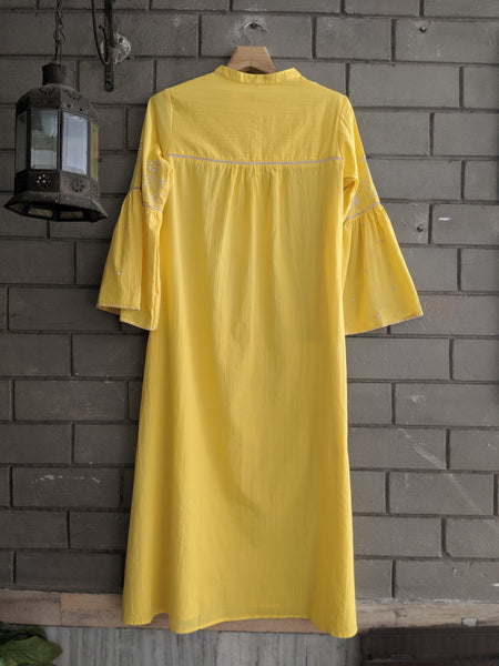 ROAM 192004 WG Embroidered Tunic Yellow
