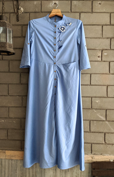 ROAM 173202 19 Cotton Chambray Dress