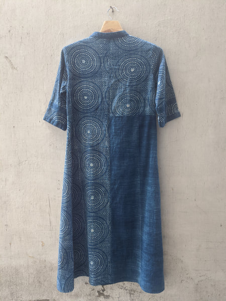 ROAM 194603 Indigo Printed dress