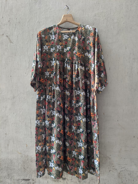 ROAM 194809 gathered printed cotton dress
