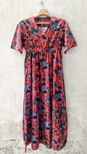 ROAM 194807 Digital Print Cotton Dress