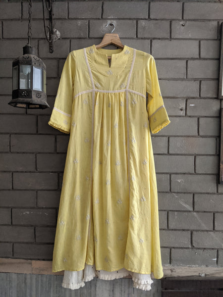 ROAM 194901 YELLOW HANDWOVEN TUNIC