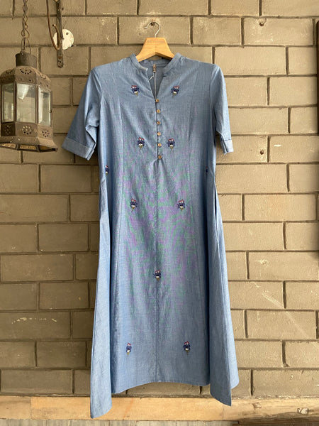 RAOM 210903 chambray tunic dress