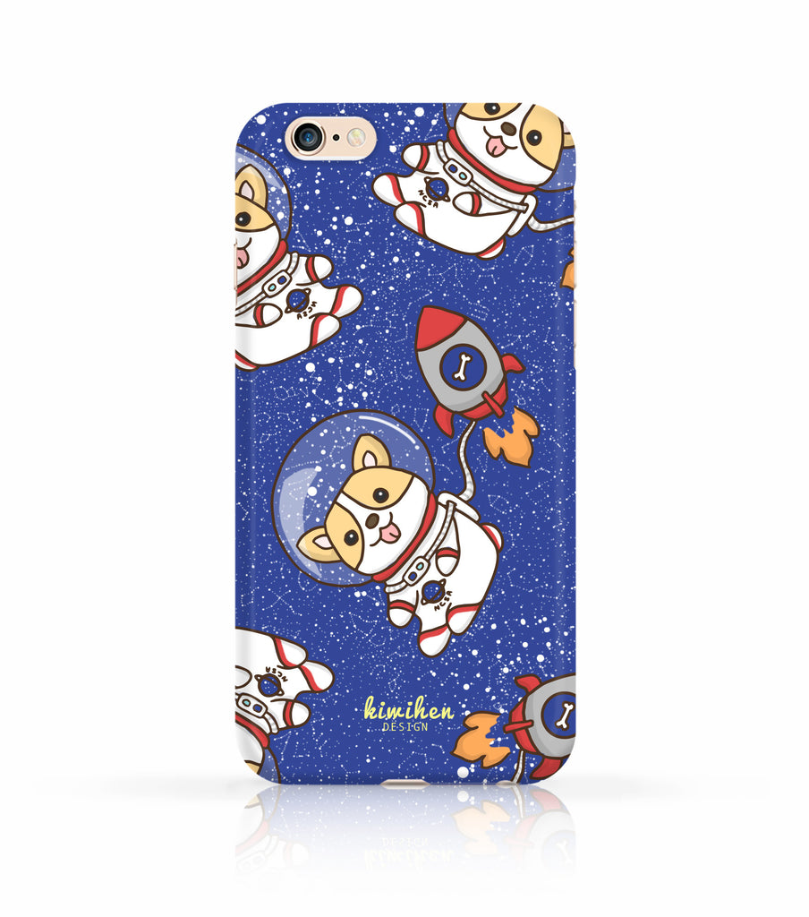Corgi in Space iPhone case