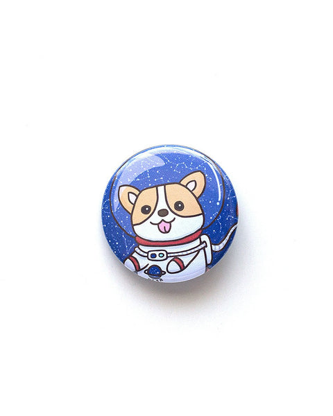 Space Corgi Button