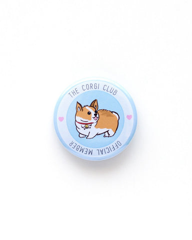 The Corgi Club Official Member Button