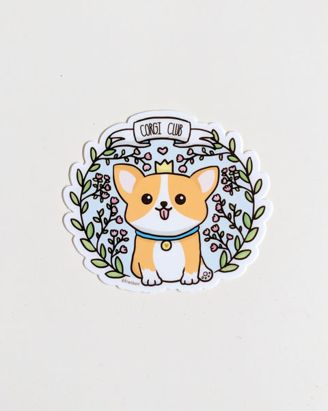 Corgi Club Vinyl Sticker
