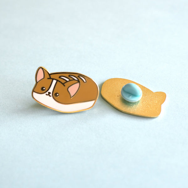 Corgi Bread Loaf Pin