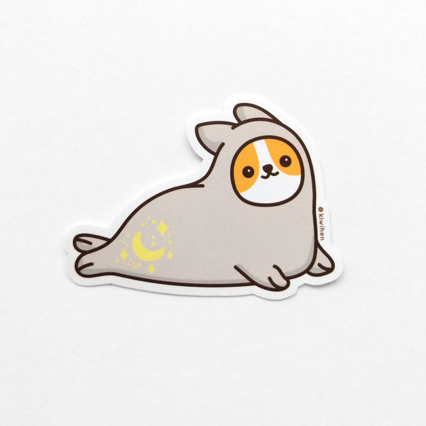 Magical Seal Corgi Sticker
