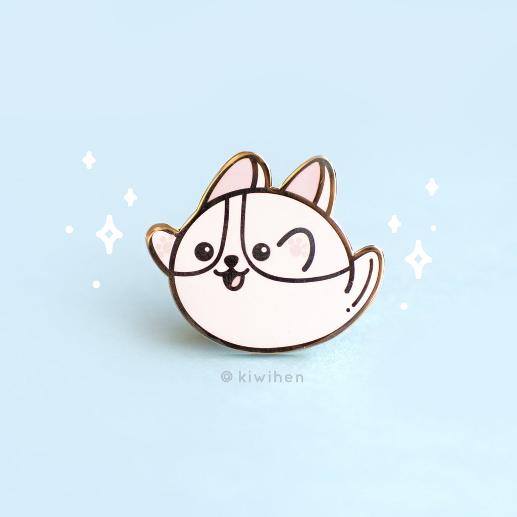 Ghost Corgi Pin