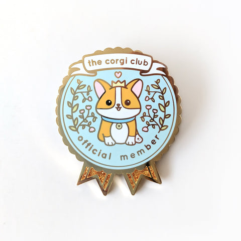 Corgi Club Enamel Pin