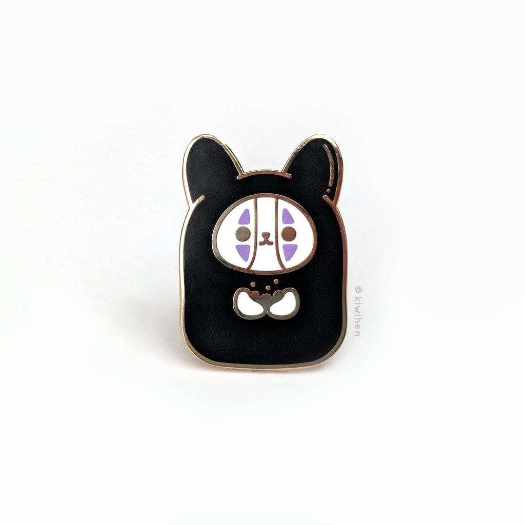 No Face Corgi Enamel Pin
