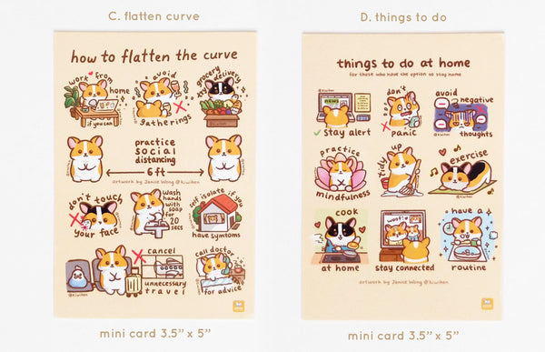 Corgi Info Mini Prints set