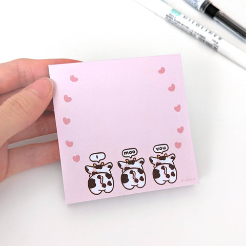 I Moo You Corgi Memo Pad