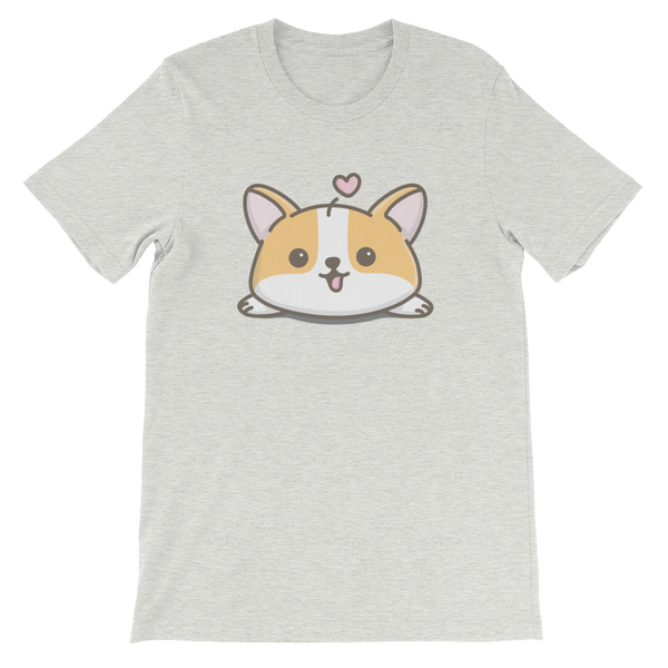 Corgi T Shirt (double sided design), unisex